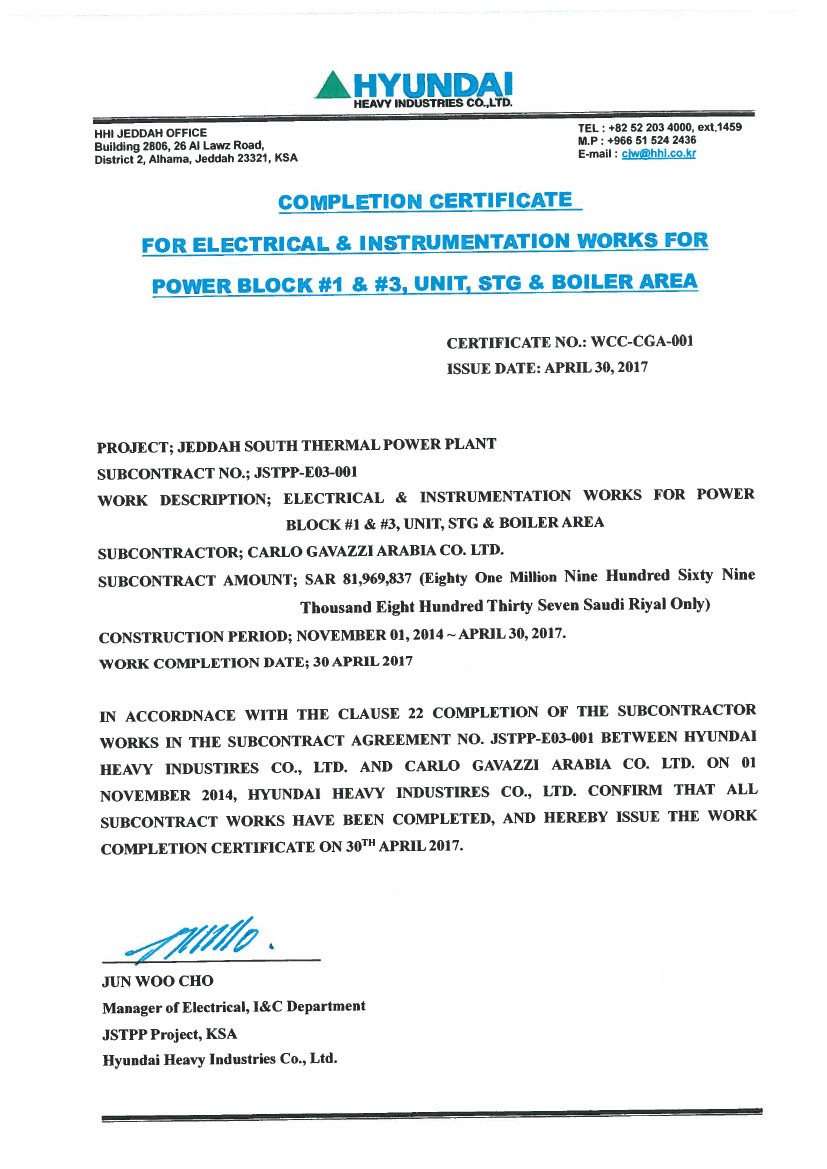 Electrical completion certificate sample choice image for Practical completion certificate template jct